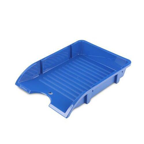 """Irattálca, műanyag, törhetetlen, DONAU """"Solid"""", kék"""