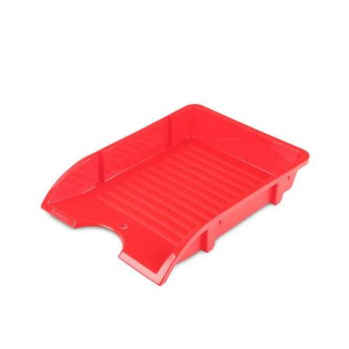 "Irattálca, műanyag, törhetetlen, DONAU ""Solid"", piros"