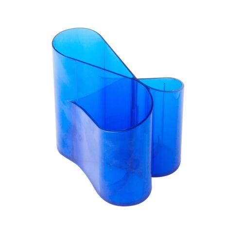Írószertartó ICO Lux műanyag kék