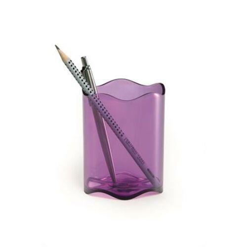 """Írószertartó, műanyag, DURABLE, """"Trend"""", áttetsző lila"""