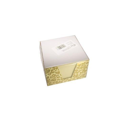 Írótömb FORTUNA fehér 9x9x6 cm egyszínű színes tartó