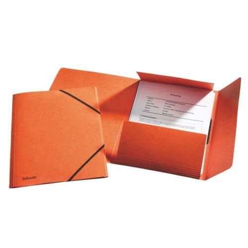 "Gumis mappa, 15 mm, prespán, A4, ESSELTE ""Rainbow"", narancssárga"