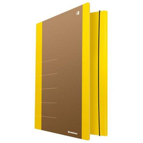 "Gumis mappa, karton, A4, DONAU ""Life"", neon sárga"
