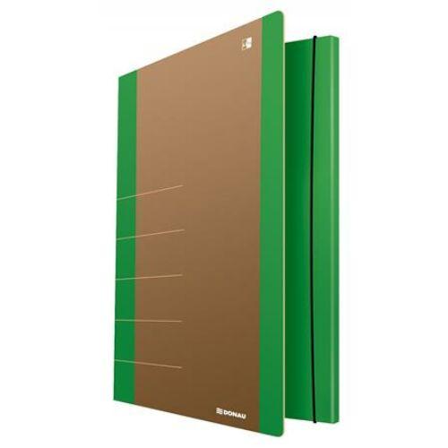 "Gumis mappa, karton, A4, DONAU ""Life"", neon zöld"