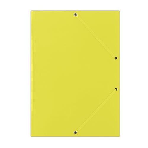 "Gumis mappa, karton, A4, DONAU ""Standard"", citromsárga"