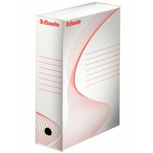 ESSELTE Archiváló doboz, A4, 100 mm, karton,Boxy, fehér
