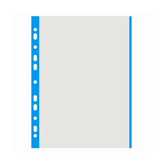 Genotherm, lefűzhető, színes szélű, A4, 40 mikron, narancsos felület, DONAU, kék