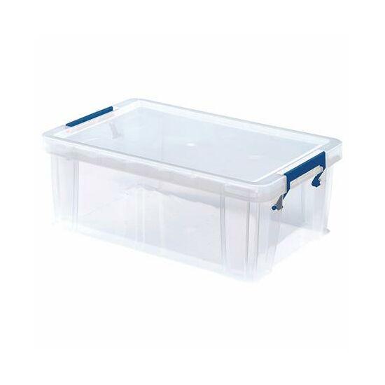 """Műanyag tároló doboz, átlátszó, 10 liter, FELLOWES, """"ProStore™"""""""