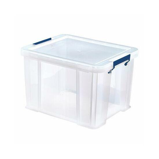 """Műanyag tároló doboz, átlátszó, 36 liter, FELLOWES, """"ProStore™"""""""