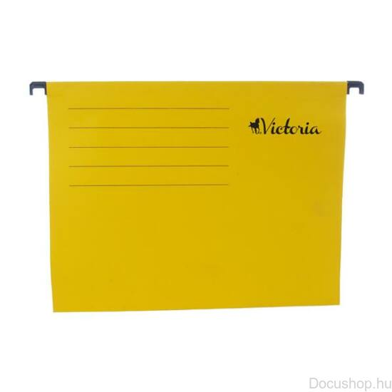 Függőmappa, karton, A4, VICTORIA, sárga (25db/csom)