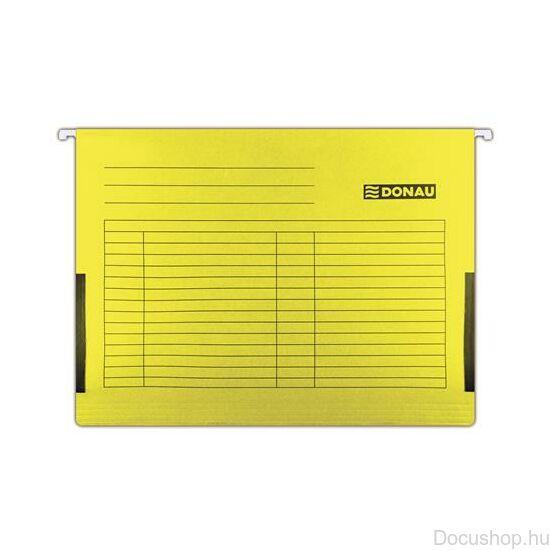 Függőmappa, oldalvédelemmel, karton, A4, DONAU, sárga (25db/csom)