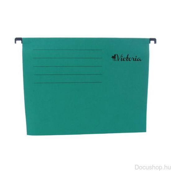 Függőmappa, karton, A4, VICTORIA, zöld 25 db/csom