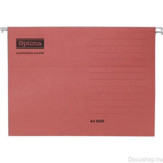 Függőmappa Optima A/4 piros (25 db/csom)