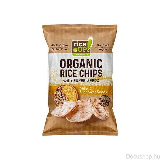 Bio barnarizs chips kölessel és napraforgóval 25g RICE UP