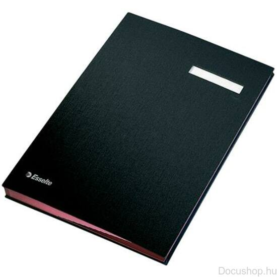 Aláírókönyv, A4, 20 részes, karton, ESSELTE,fekete