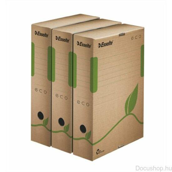 Újrahasznosított karton archiváló doboz A4, 80 mm ECO barna  ESSELTE