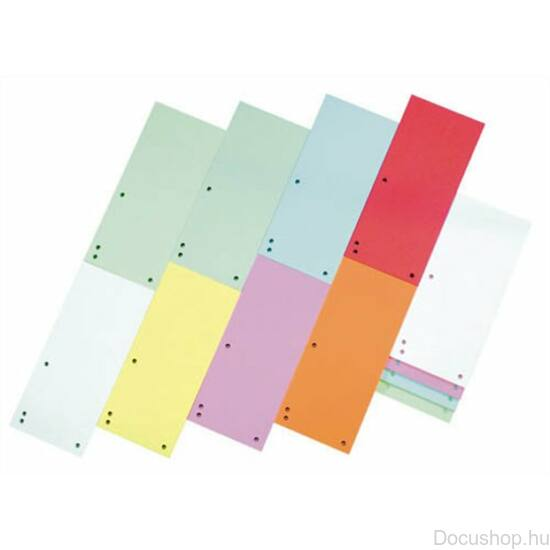 Elválasztócsík, karton, DONAU, vegyes színek (100db/csom)