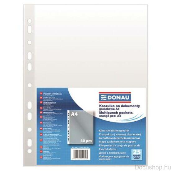 Genotherm, lefűzhető, A4, 40 mikron, narancsos felület, DONAU (25db/csom)